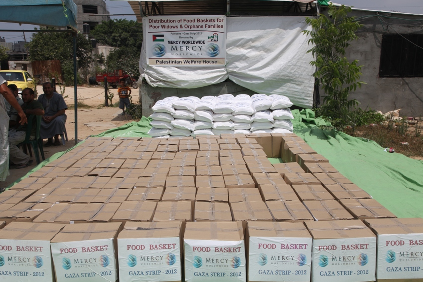 Palestine Food Distribution June 2012