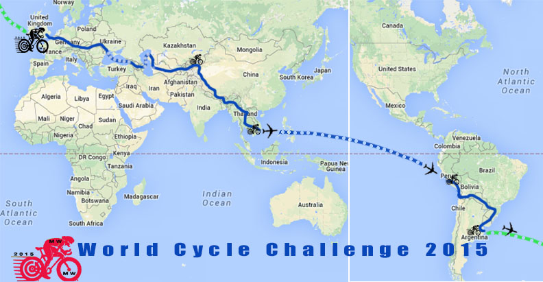 Map of the route mercy worldwide trust wcc 2015 the route gumiabroncs Choice Image